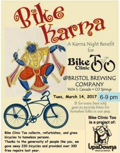 Bike Clinic Too- Karma Hour @ Bristol Brewing Co | Colorado Springs | Colorado | United States