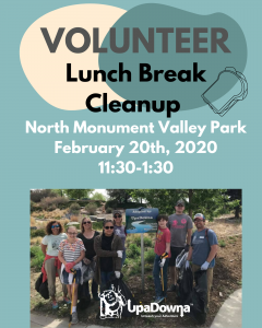 Lunch Break Cleanup W/ UpaDowna & OutThere Colorado @ North Monument Valley Park | Colorado Springs | Colorado | United States