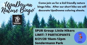 UpaDowna Little Hikers: Nature Bingo Hike! @ Sondermann Park | Colorado Springs | Colorado | United States