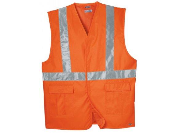 Dickies VE200AOSM High Visibility Orange ANSI Class 1 Safety Vest   Small Medium