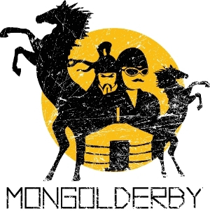 Mongol Derby Distressed Vector