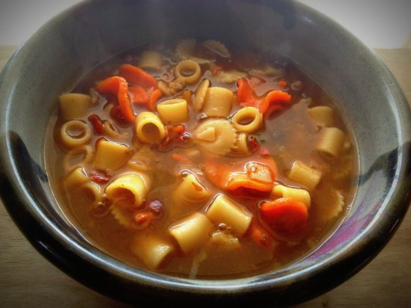 Its A Pretty Tasty Soup, Full Of Pasta And Delicious Veggies In A Rich Beef  Stock. Sometimes Bits Of Veggies Were A Little Chewy After 15 Minutes But  Cooked ...